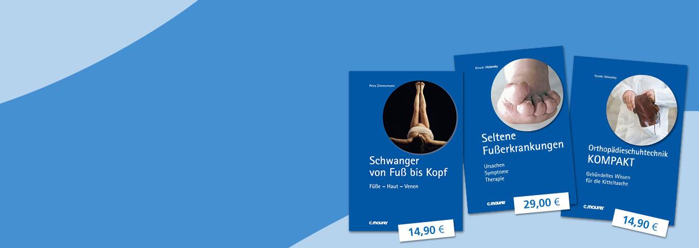 DerFuss_Slider_buecher_blau der-fuss.de Fachzeitschrift
